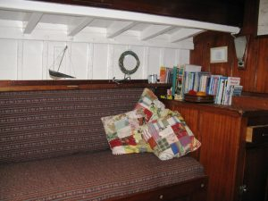Penny Jane, Port side book shelf