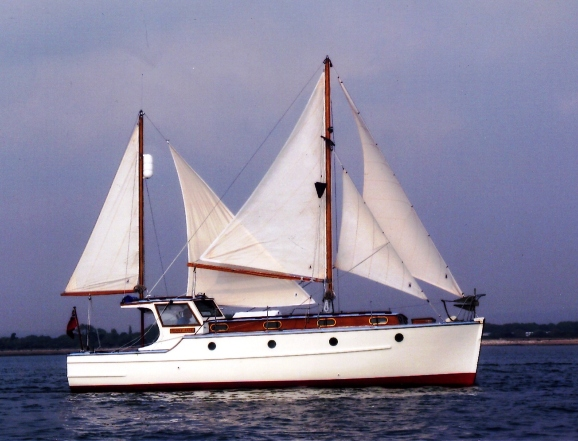 Penny Jane under sail