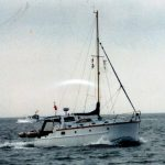 San Pierre at sea