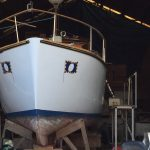 Zenique bow view in Boatyard