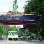 Venice out of the water before refit