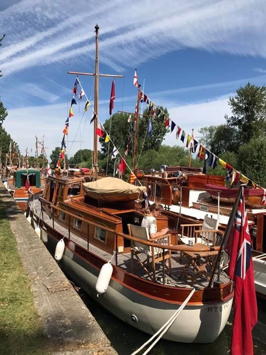 Lady Lou alongside another Dunkirk Little Ships at Windsor Castle Home Park